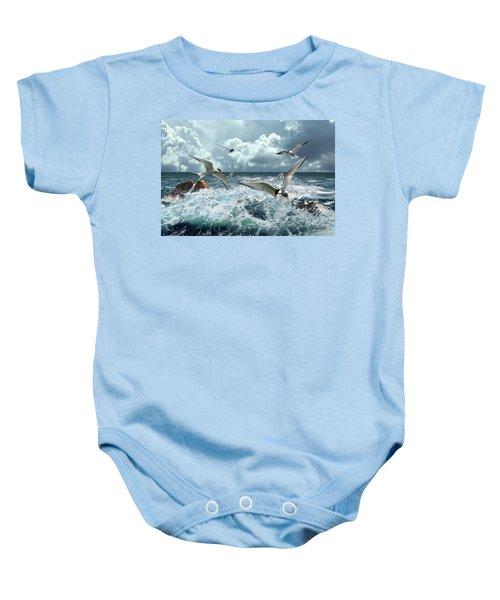 Terns In The Surf Baby Onesie