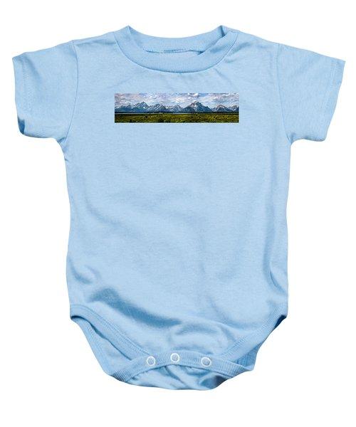 Tetons - Panorama Baby Onesie