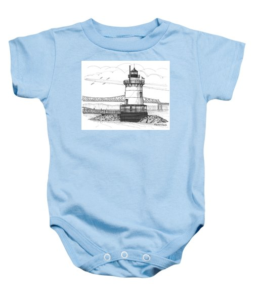 The 1883 Lighthouse At Sleepy Hollow Baby Onesie