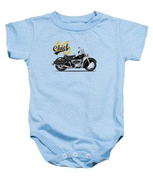 The 1946 Chief Baby Onesie by Mark Rogan