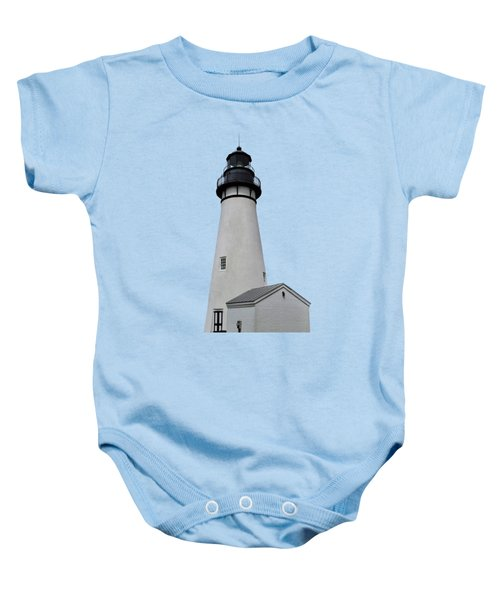 The Amelia Island Lighthouse Transparent For Customization Baby Onesie