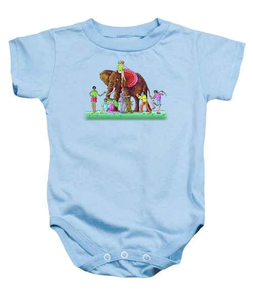 The Blind And The Elephant Baby Onesie