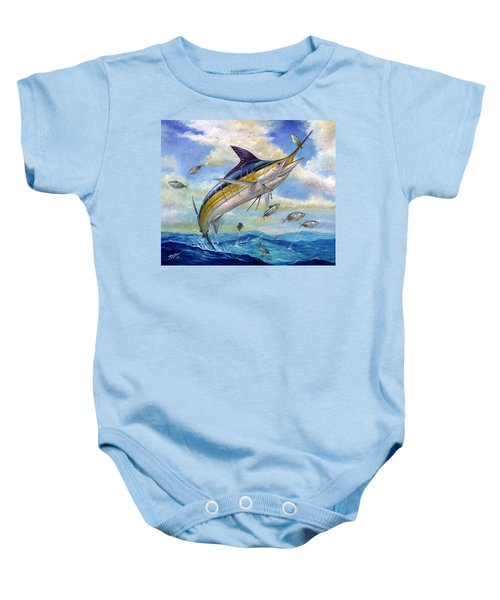 The Blue Marlin Leaping To Eat Baby Onesie