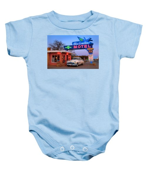 The Blue Swallow Baby Onesie