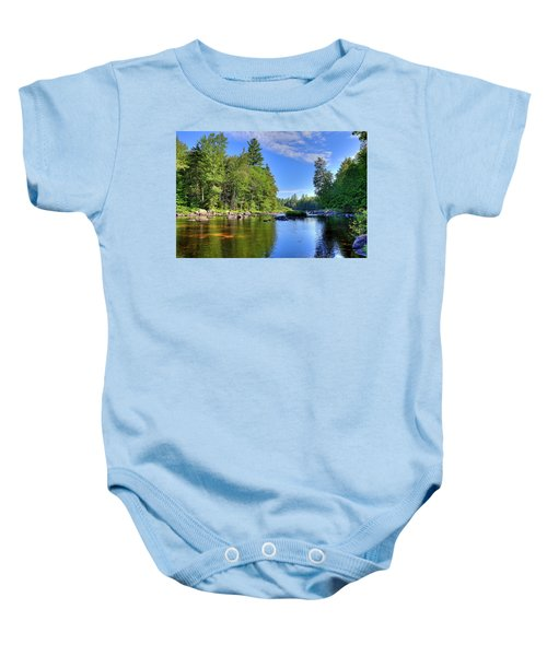 Baby Onesie featuring the photograph The Calm Below Buttermilk Falls by David Patterson