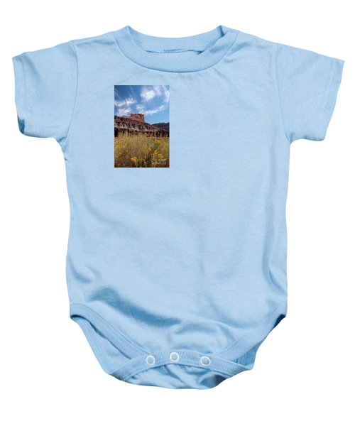 Rock Formation Capital Reef Baby Onesie