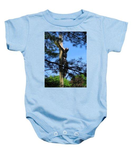 The Cross In The Woods Baby Onesie