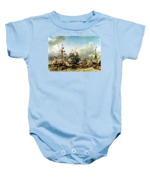 The Embarkation Of Ruyter And William De Witt In 1667 Baby Onesie
