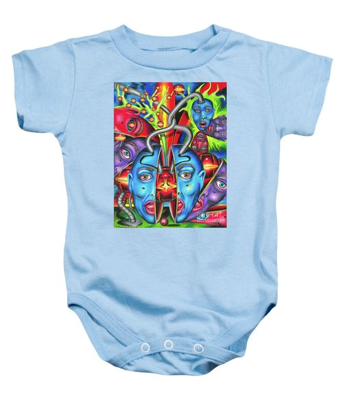 The Esoteric Force Of Molecular Mentality Baby Onesie