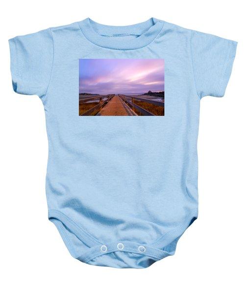 The Footbridge Good Harbor Beach Baby Onesie