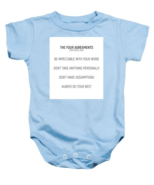 The Four Agreements #minismalism #shortversion Baby Onesie