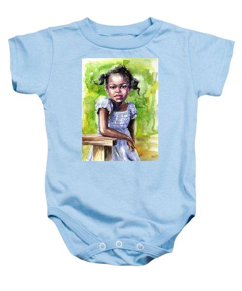 The Girl On The Veranda Baby Onesie