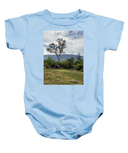 Baby Onesie featuring the photograph The Good Life by Linda Lees