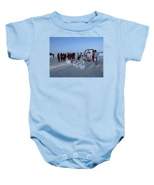 The Happy Couple - Married On The Beach Baby Onesie