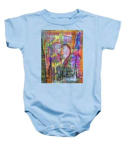 The Heart Of The City Baby Onesie