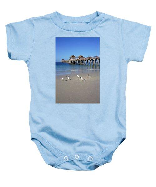 The Historic Naples Pier Baby Onesie