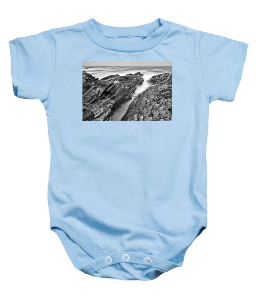 The Jagged Rocks And Cliffs Of Montana De Oro State Park In Cali Baby Onesie