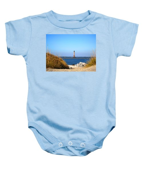 The Lighhouse At Morris Island Charleston Baby Onesie