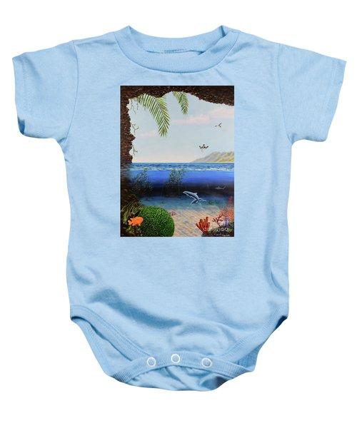 The Living Ocean Baby Onesie