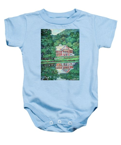 Baby Onesie featuring the painting The Lodge At Peaks Of Otter by Kendall Kessler