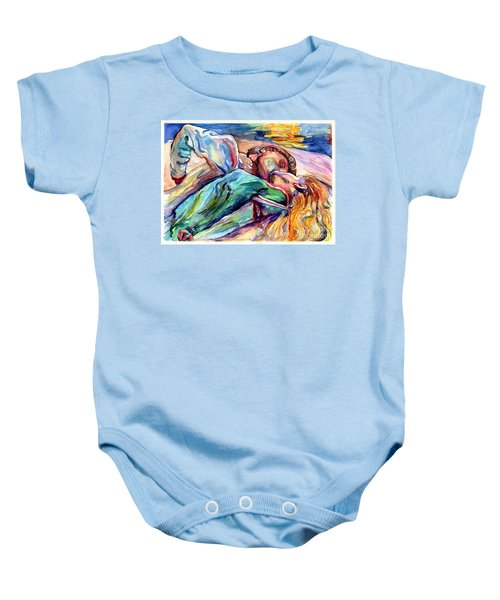 The Lovers Watercolor Baby Onesie
