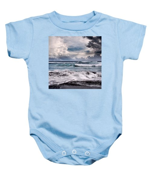 The Music Of Light Baby Onesie by Sharon Mau