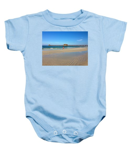 The Naples Pier At Low Tide Baby Onesie