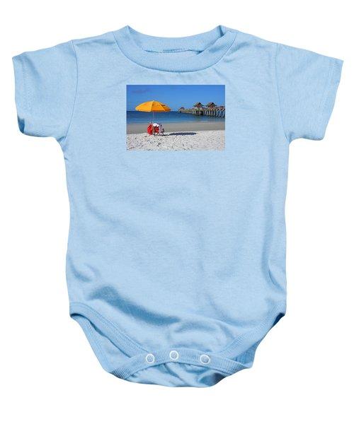 The Naples Pier Baby Onesie