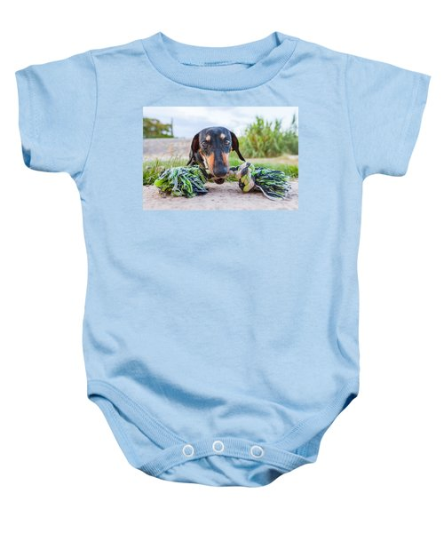 The Object Of Bubbles' Obsession Baby Onesie