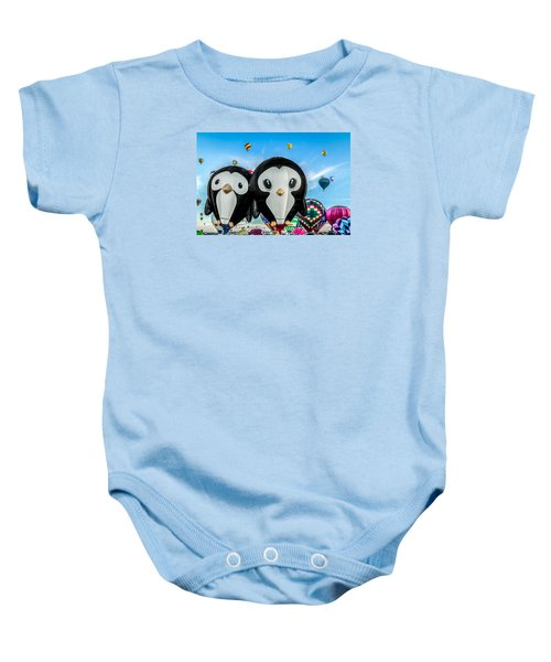 Puddles And Splash - The Penguin Hot Air Balloons Baby Onesie
