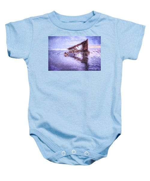 A Stormy Peter Iredale Baby Onesie