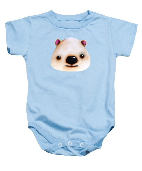 The Polar Bear Baby Onesie by Lucia Stewart