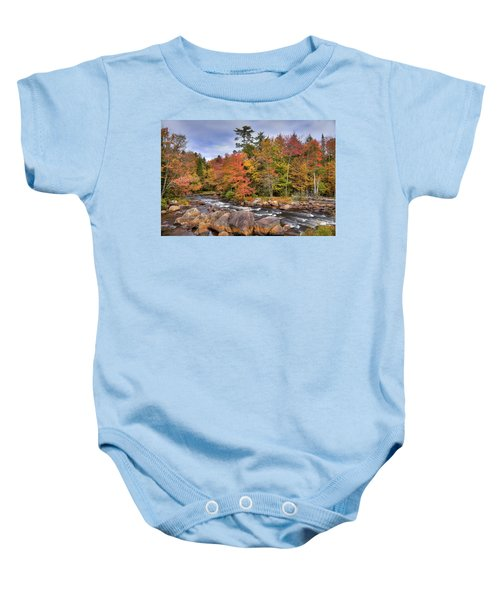 Baby Onesie featuring the photograph The Rapids On The Moose River by David Patterson