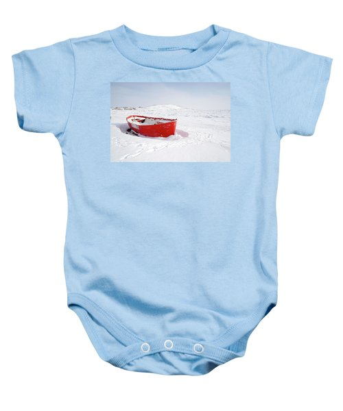 The Red Fishing Boat Baby Onesie