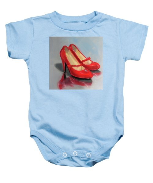 The Red Shoes Baby Onesie