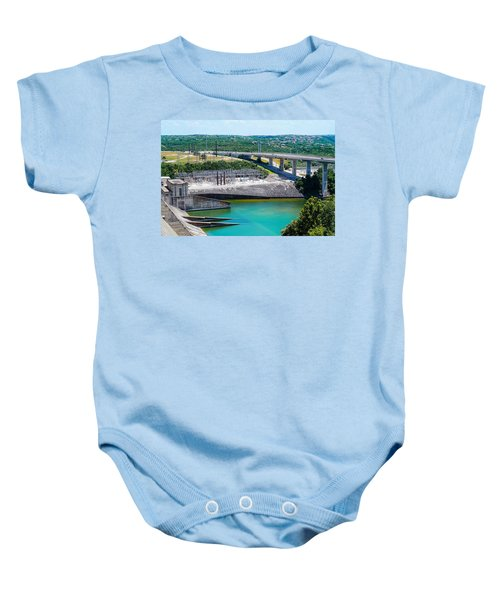 The River Flows Baby Onesie