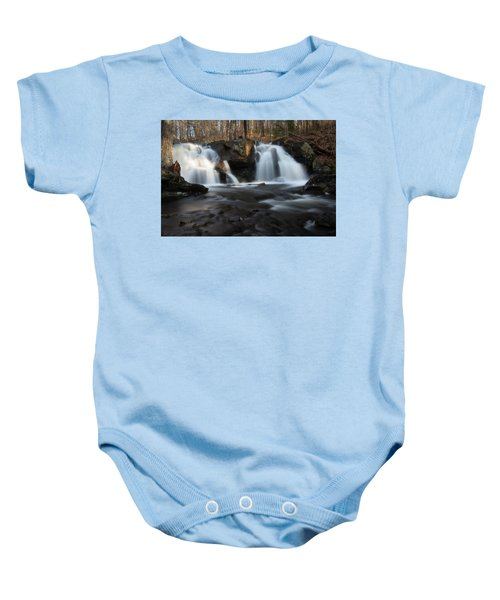 The Secret Waterfall In Golden Light Baby Onesie
