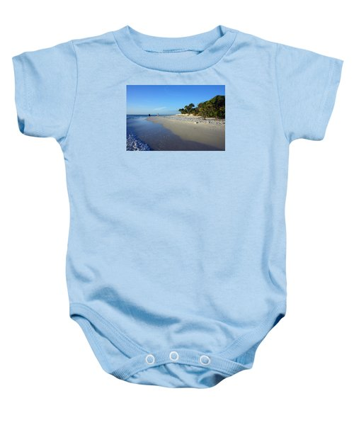 The South End Of Barefoot Beach In Naples, Fl Baby Onesie