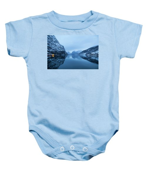 The Stillness Of The Sea Baby Onesie by David Chandler