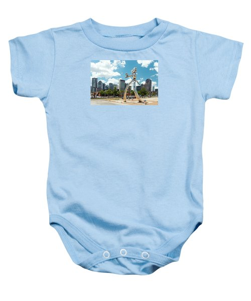 The Traveling Man Dallas 080618 Baby Onesie