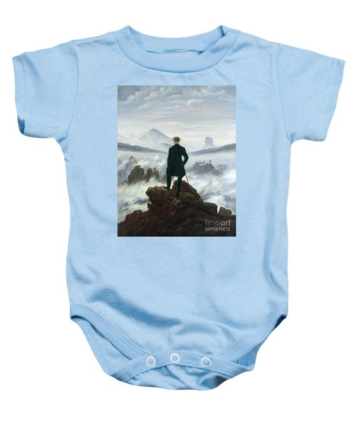 The Wanderer Above The Sea Of Fog Baby Onesie
