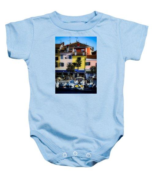The Watercolors In Split Baby Onesie