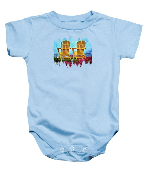 Relaxing By The Sea Baby Onesie