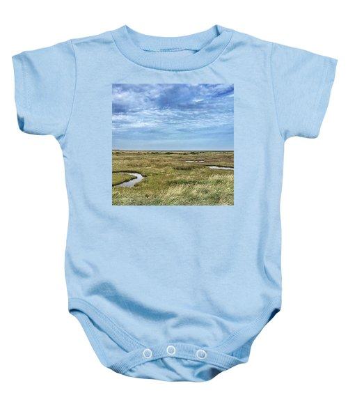 Thornham Marshes, Norfolk Baby Onesie