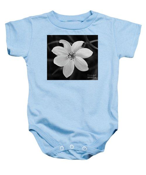 Threadleaf In Black And White Baby Onesie