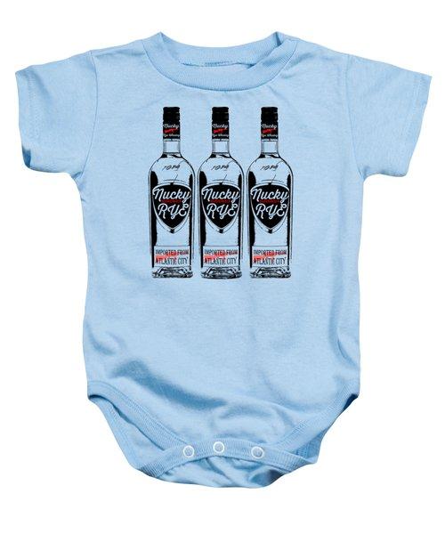 Three Bottles Of Nucky Rye Tee Baby Onesie