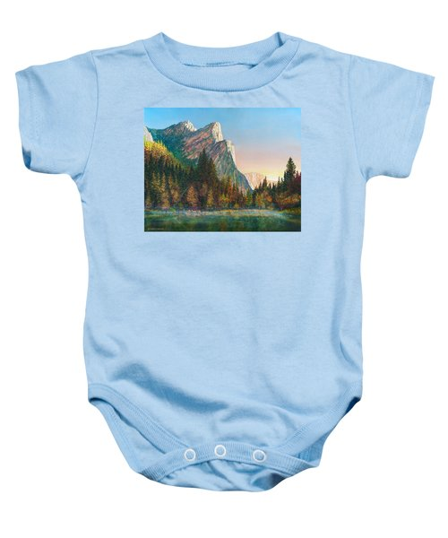 Three Brothers Morning Baby Onesie