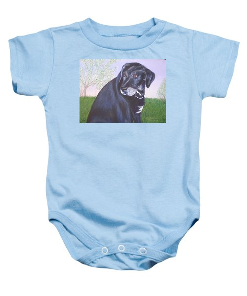 Tiko, Lovable Family Pet. Baby Onesie