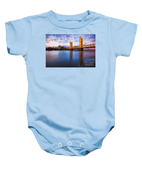 Tower Bridge Sacramento 3 Baby Onesie