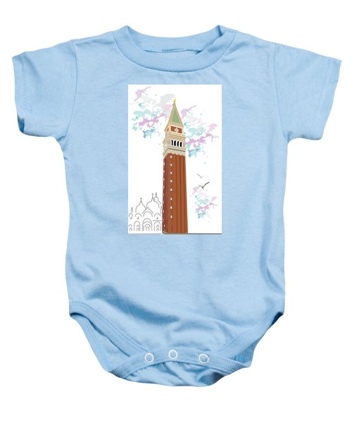 Tower Of Campanile In Venice Baby Onesie
